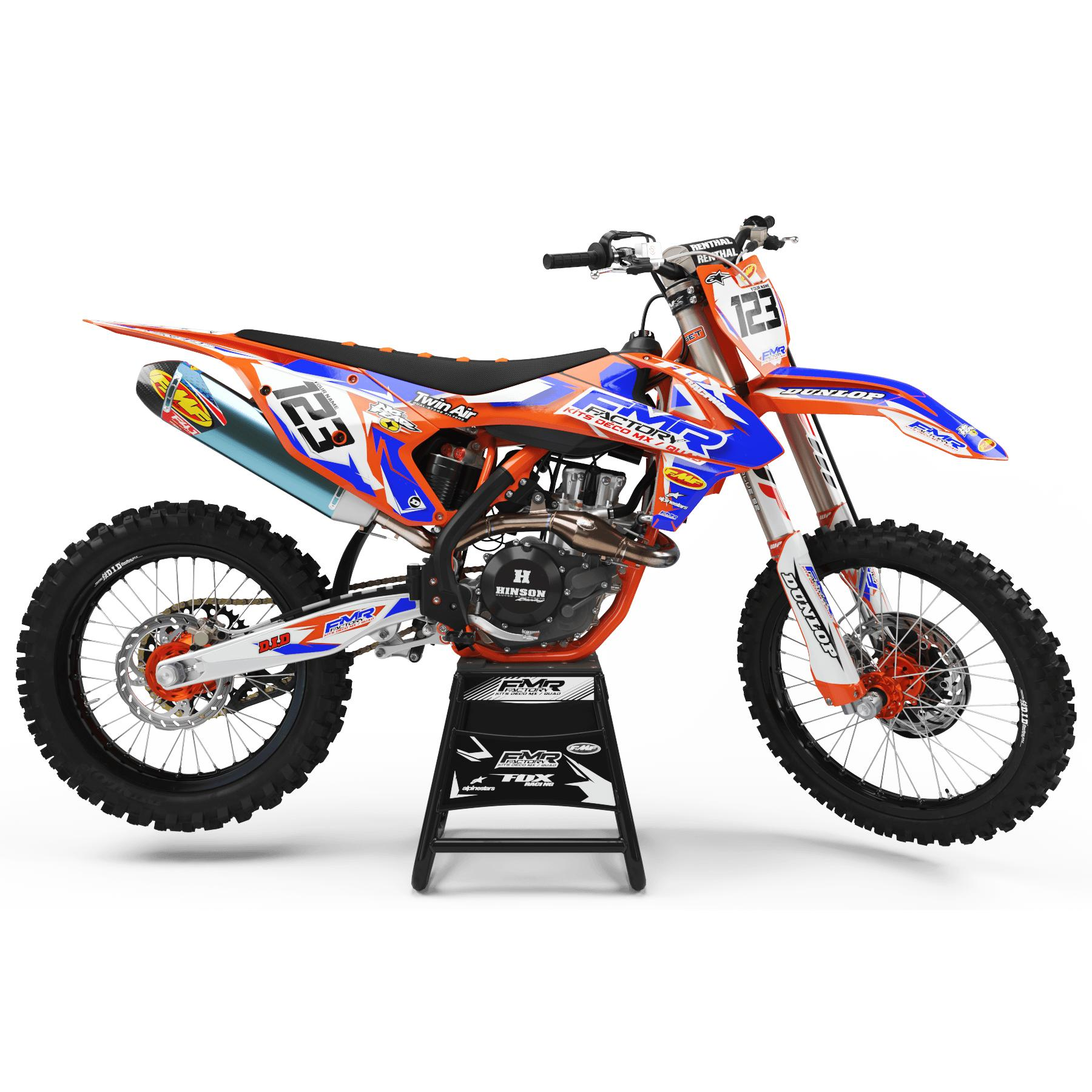 kit deco ktm FMR FACTORY orange