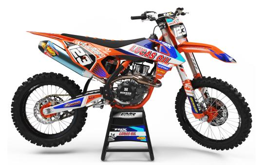 KIT DECO KTM MOTOCROSS LUCAS OIL orange