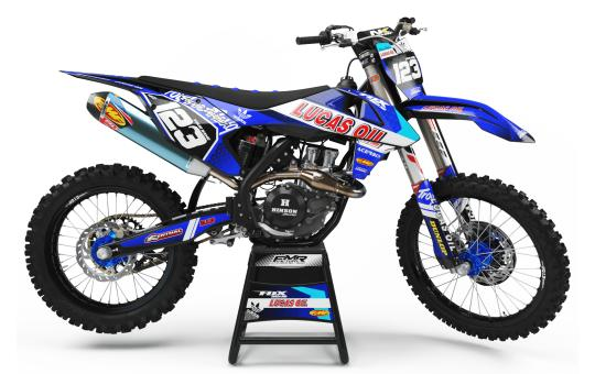 KIT DECO PERSO 125 YZ LUCAS OIL bleu
