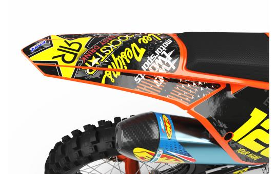 KIT DECO KTM ROCKSTAR ENERGY orange ARRIERE
