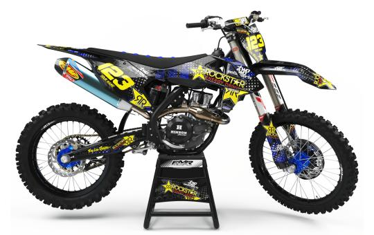 kit deco motocross ROCKSTAR ENERGY bleu