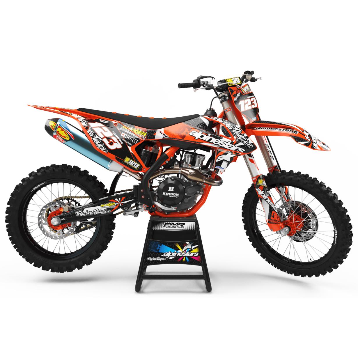 kit deco ktm ALPINESTARS orange
