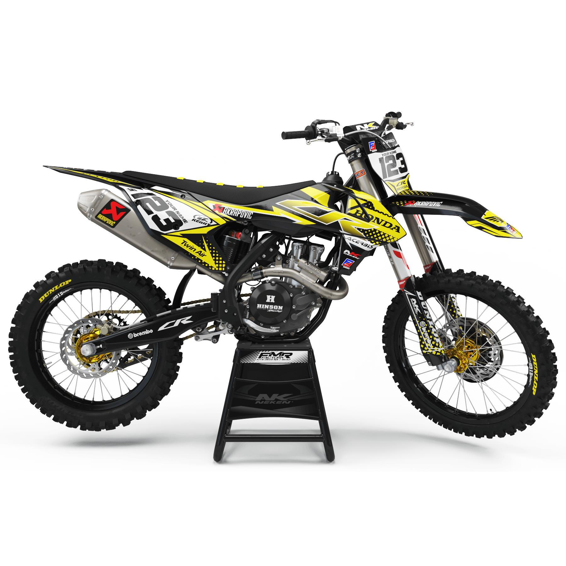 kit deco perso FACTORY ENERGY jaune