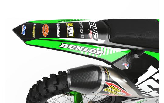 kit deco perso BUD Racing kawasaki face arriere
