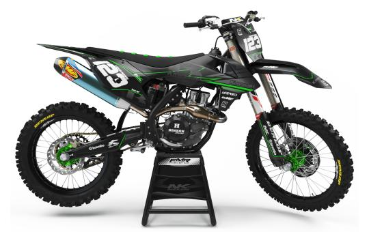 kit deco perso kawasaki FACTORY NEKEN BLACK MATE
