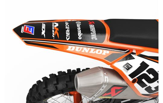 KIT DECO KTM FACTORY ENERGY orange FACE ARRIERE