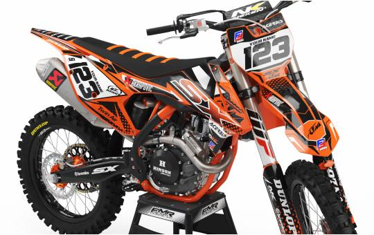 KIT DECO KTM FACTORY ENERGY orange FACE AVANT