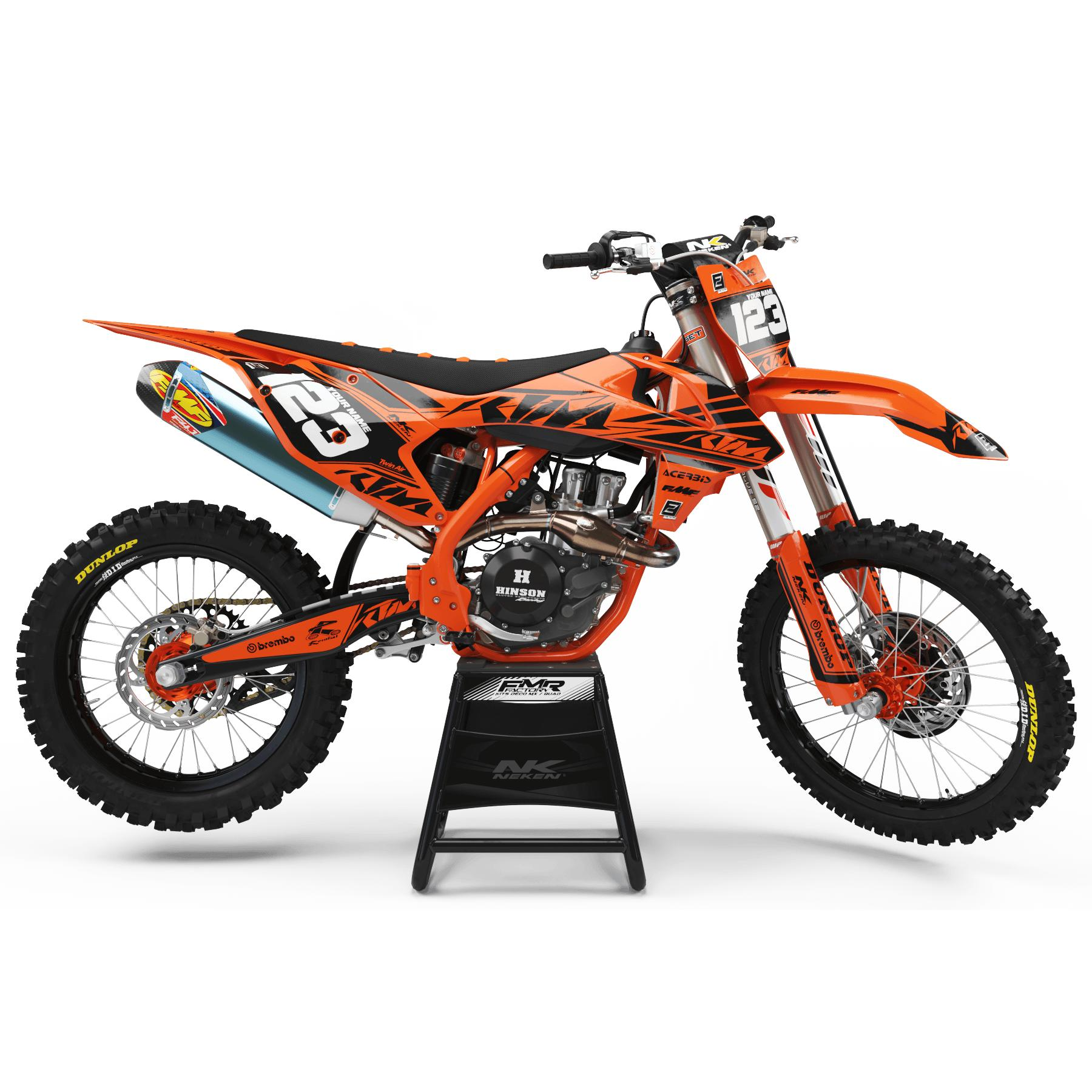 kit deco ktm FACTORY Neken noir orange