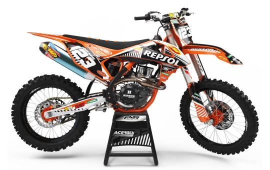 kit déco perso KTM FACTORY NEKEN BLACK MATE