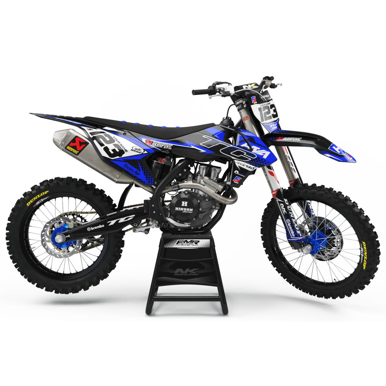 kit deco Husqvarna FACTORY ENERGY bleu|noir