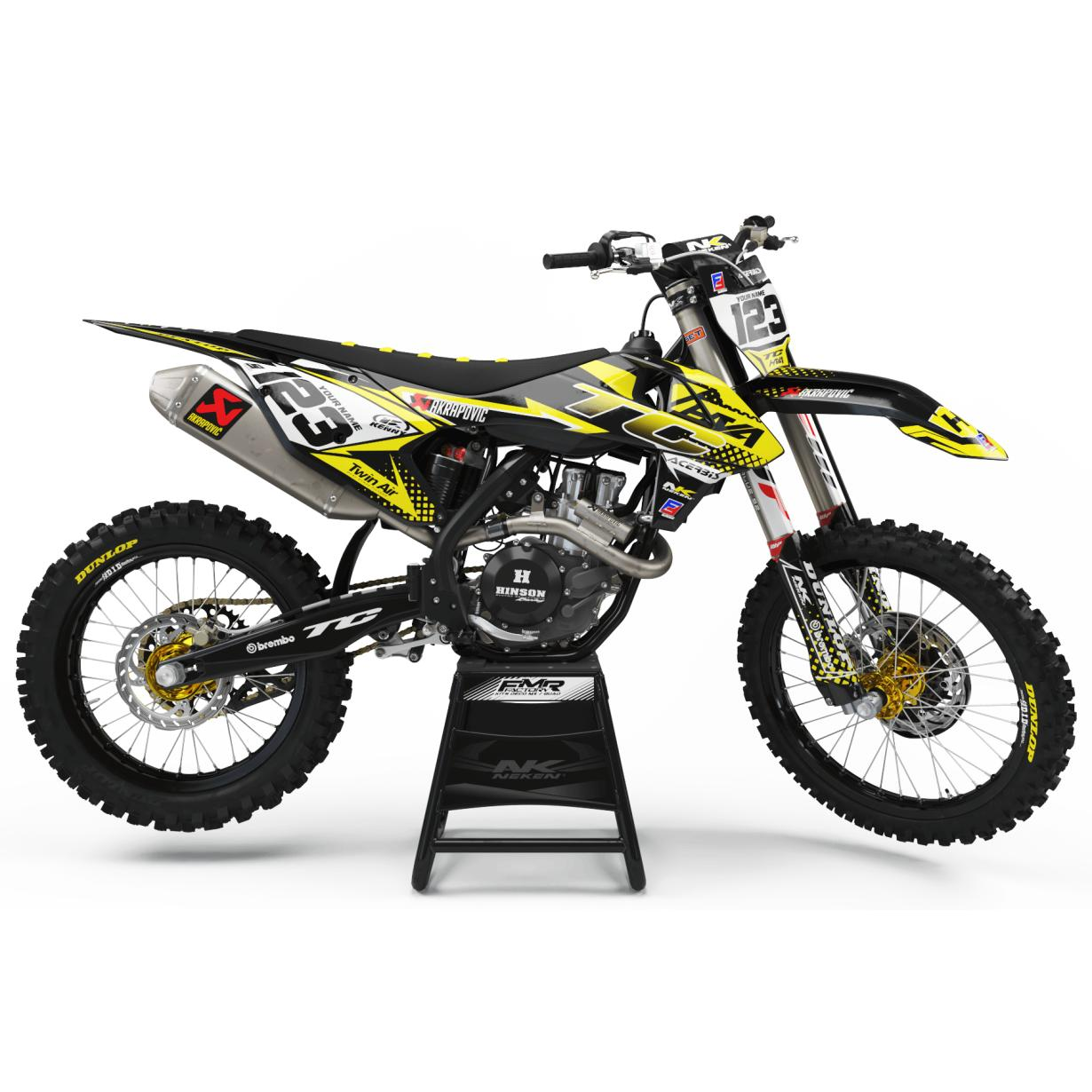 KIT DECO PERSO Husqvarna FACTORY ENERGY jaune