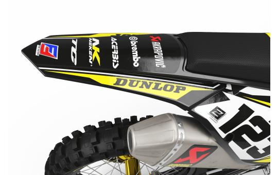 KIT DECO PERSO Husqvarna FACTORY ENERGY jaune  ARRIERE