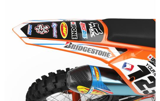 KIT DECO KTM BOXER orange VUE ARRIERE