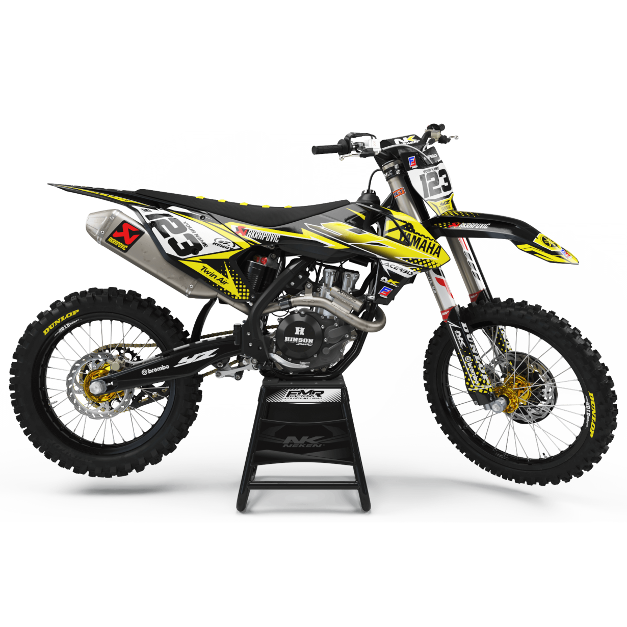 kit deco 125 yz jaune